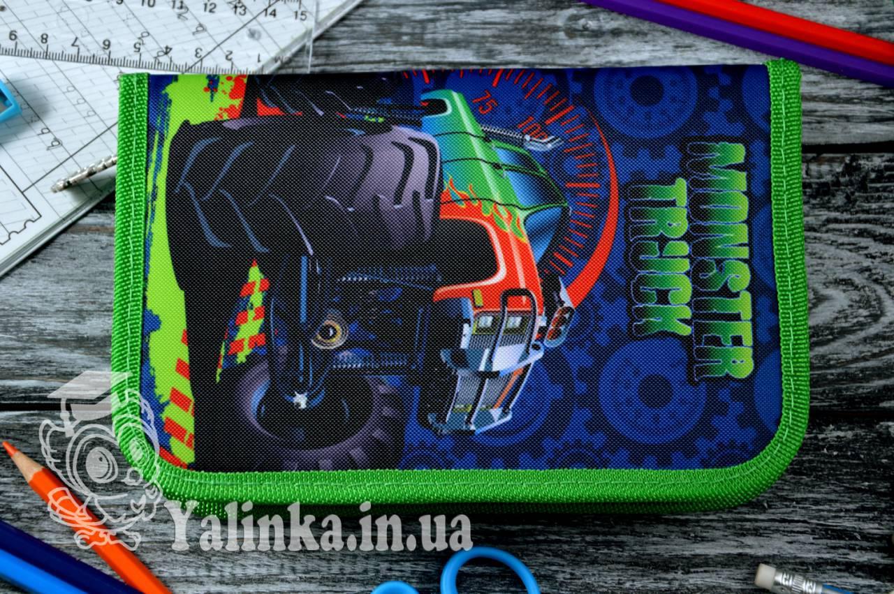 Пенал одинарный с клапаном  Monster truck 531712 SMART