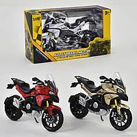 Мотоцикл металлопластик НХ 795 (144) 3 цвета, в коробке
