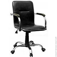 Офисное Кресло AMF Самба-RC хром орех Скаден черный без канта (12683)