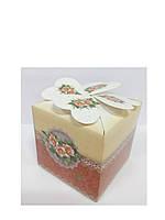 Упаковочная коробочка декоративная с розочками