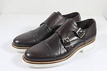 Итальянские мужские кожаные туфли монки 40 р.