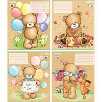 Тетрадь школьная Kite Popcorn the Bear, 12 листов, в косую линию, PO18-235