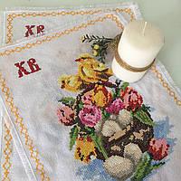 Пасхальные салфетки с вышивкой