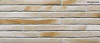 Клинкерная плитка Stroeher 450 gold-wiess, серия RIEGEL 50 Ригель-формат 490х40х14