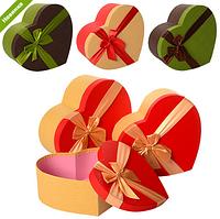 Шкатулка сувенирная, в виде сердца, бант RMT-55301-02 (4 цвета,размер:31*28*13,5см)