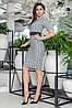 """Офисное платье-футляр по колено """"ODIN"""" с принтом и коротким рукавом (3 цвета), фото 4"""