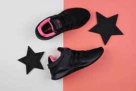 Кроссовки женские Adidas Equipment Support ADV Core Black/Black/Turbo / NR-ADW-1362 (Реплика)