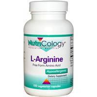L - Аргинин, Nutricology, 500 мг, 100капсул