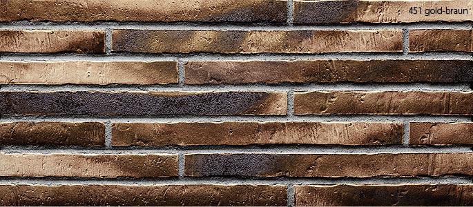 Клинкерная плитка Stroeher 451 gold-braun, серия RIEGEL 50 Ригель-формат 490х40х14