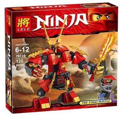"""Конструктор LELE Ninja (аналог Lego Ninjago) """"Огненный робот Кая"""" 79110, 120 дет"""