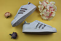 "Кроссовки женские adidas Superstar ""Ftwr White/Silver Metallic/Core Black"" / NR-ADW-1580 (Реплика)"