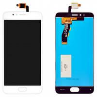 Дисплей для мобильного телефона Meizu M5s, белый, с сенсорным экраном