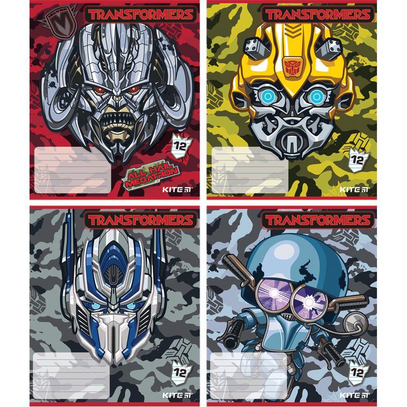 Тетрадь школьная Kite Transformers, 12 листов, в линию, TF18-234