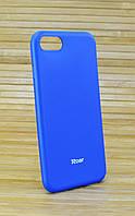 Силиконовый чехол на Айфон 7 7s ALL DAY синий