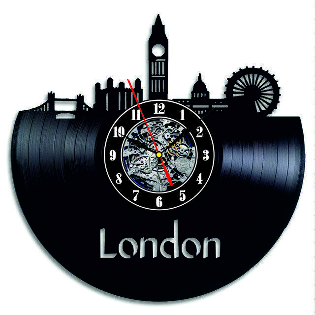 Настенные часы из виниловых пластинок LikeMark London