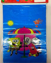 """Пакет полиэтиленовый подарочный в стиле   """" Спанч Боб ( Губка Боб ) квадратные штаны """" 30 * 22 см."""
