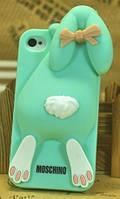 Силиконовый чехол 3D Rabbit Violetta для iPhone 5/5s/SE