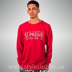 Свитшот Supreme Красный | Most Famous