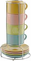 Чайный набор 9 предметов на металлической подставке Оселя 24-267-003