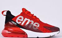 Кроссовки мужские  Supreme x Nike Air Max 270 Red