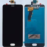 Дисплей для мобильного телефона Meizu M5s, черный, с сенсорным экраном