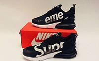 Кроссовки мужские  Supreme x Nike Air Max 270 black