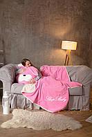 """Плед з подушкою (для дітей), комплект """"Зайчик"""". Розмір S"""