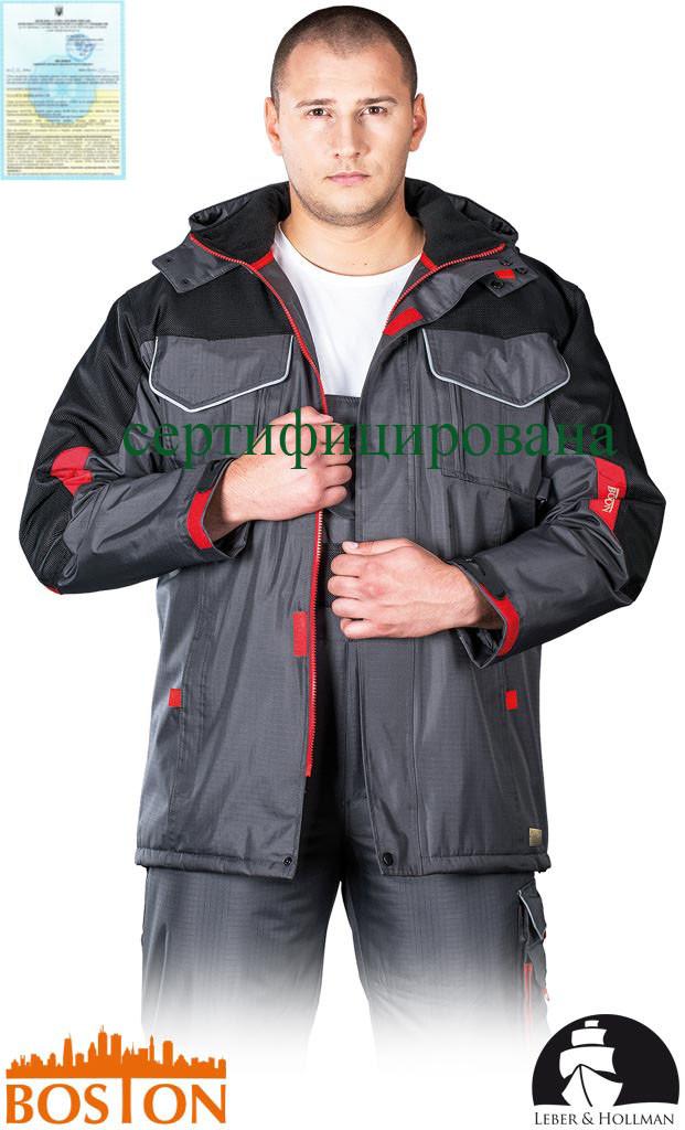 Куртка BOSTON рабочая утепленная с водоотталкивающей пропиткой (сигнальная зимняя спецодежда) LH-BSW-LJ SBC