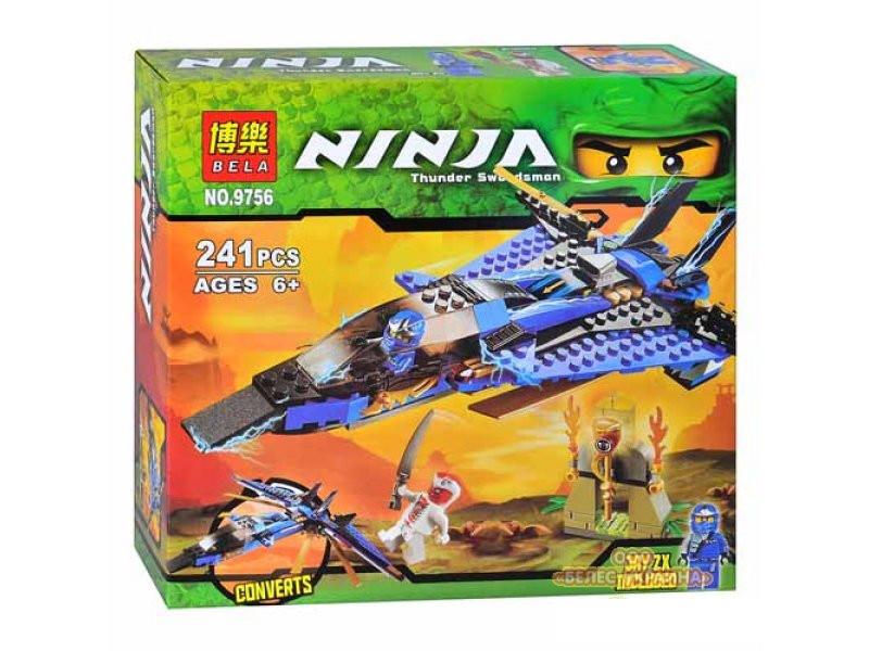 """Конструктор  Bela Ninja (аналог Lego Ninjago) 9756 """"Джей и его штурмовой истребитель"""" , 241 дет"""