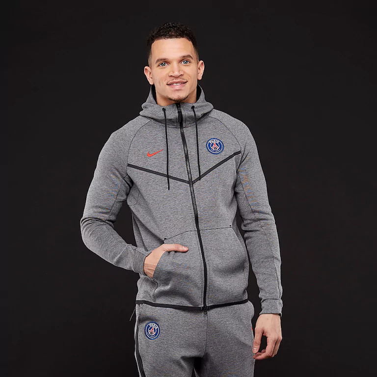 Толстовка Nike PSG Tech Fleece Windrunner Jacket AA1932-095 (Оригинал)