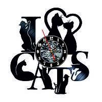 Настенные часы из виниловых пластинок LikeMark Cat