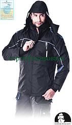 Куртка зимова робоча із сигнальними вставками (утеплений робочий одяг) LH-BLACKOR B