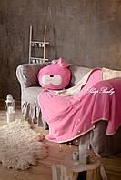 """Теплий плед з подушкою (для дітей), комплект """"Зайчик"""". Розмір L"""