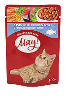 Мяу! 100г * 24шт  - паучи для кошек (в ассортименте), фото 2