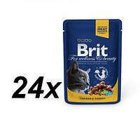 Brit Premium Cat pouch 100 g *24шт- паучи для кошек и котят, фото 2