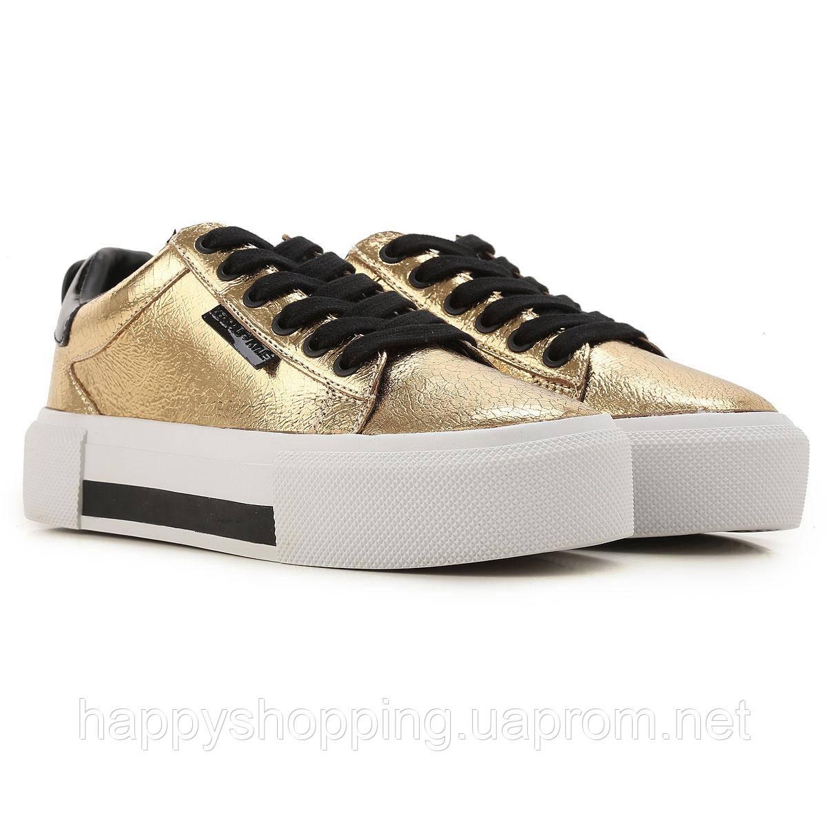 Женские золотистые кожаные кеды Kendall +Kylie