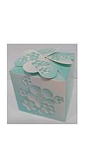 Упаковочная коробочка декоративная бирюзовая