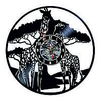 Настенные часы из виниловых пластинок LikeMark Giraffe