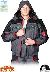 Куртка BOSTON зимняя рабочая с водонепроницаемой пропиткой (рабочая одежда утепленная флисом) LH-BSW-J SBC