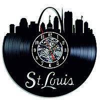 Настенные часы из виниловых пластинок LikeMark IronMan St. Louis