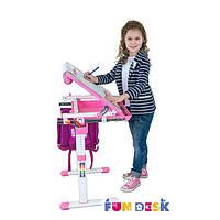 Комплект FunDesk Парта-мольберт 47х66 см и растущий стул для детей 3 - 10 лет ТМ FunDesk Розовый BAMBINO PINK