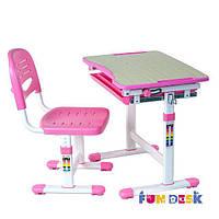 Комплект растущей мебели - домашняя парта 47х66 см и стул для детей 3 - 10 лет ТМ FunDesk PICCOLINO PINK
