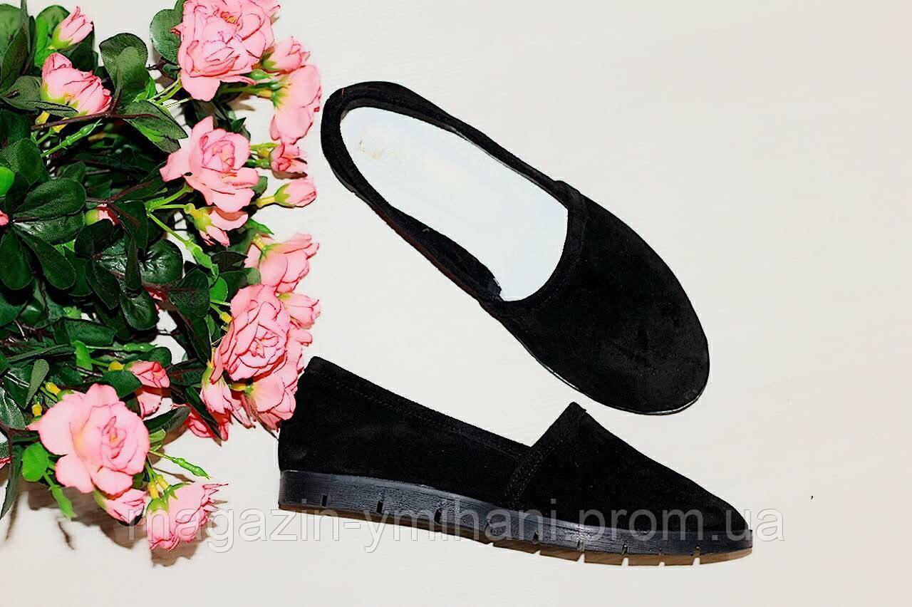 e72d8a0861b8 Женские замшевые балетки-туфли черные. Украина  продажа, цена в ...