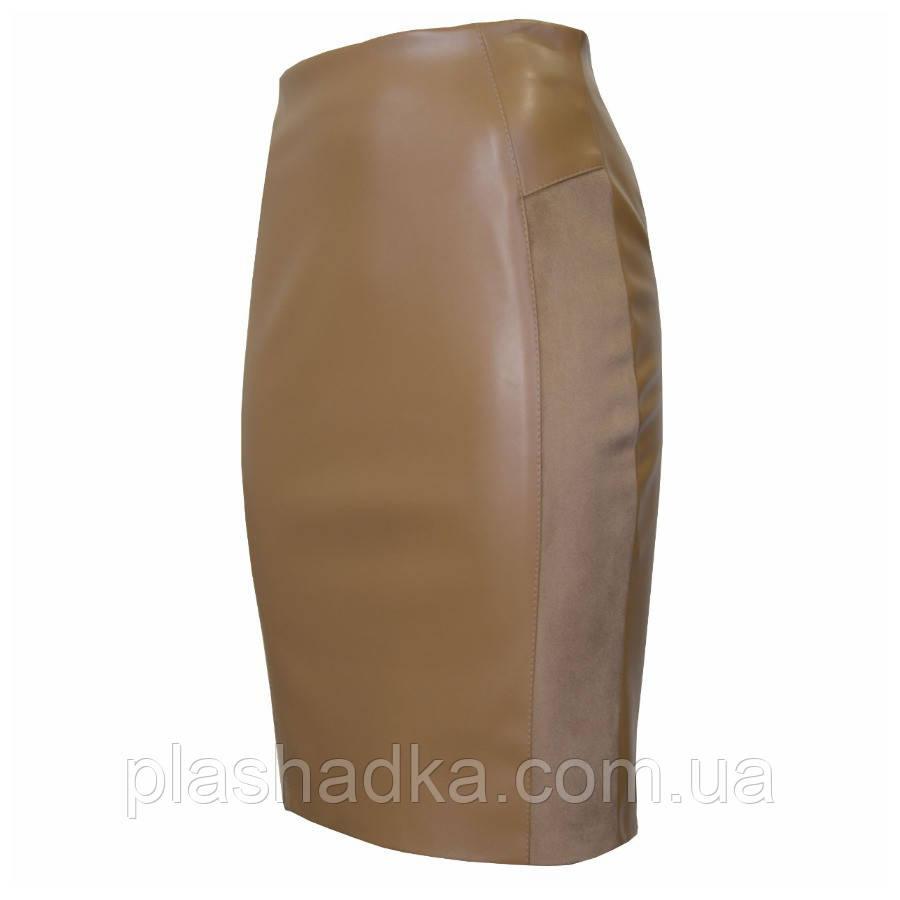 Женская юбка карандаш, цвет горчичный