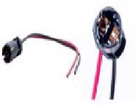 Патрон под лампу T10 (W5W) с проводами и медными контактами