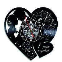 Настенные часы из виниловых пластинок LikeMark Wedding