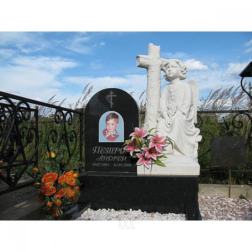 Детское надгробие ангел с крестом №8