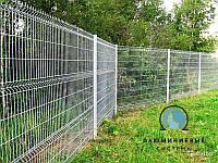 Забор секционный 1,5 м х 3 м из сварной сетки оцинкованной. Эконом