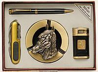 Подарочный набор (зажигалка, пепельница, нож, ручка)