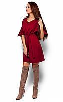 S-M, M-L / Ультрастильный повседневное платье Vensdy, марсала